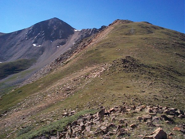 Once I was on this ridge I could see Browns Peak eight tenths of a mile to the southeast.