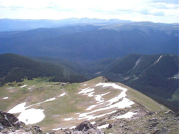 Mount Evans (?) to the south.
