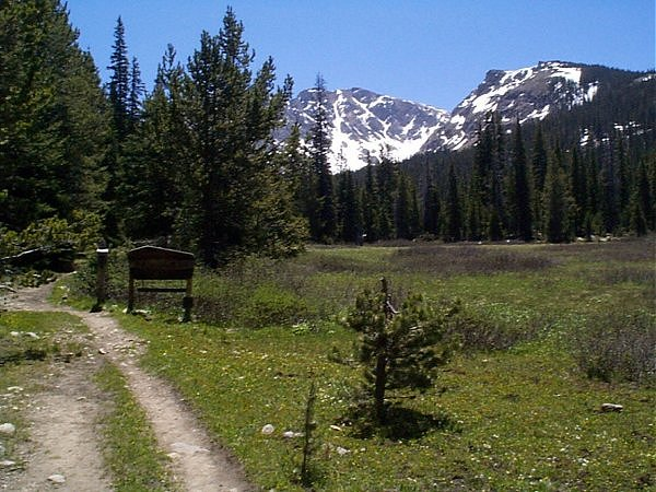 Entering the Indian Peaks Wilderness.
