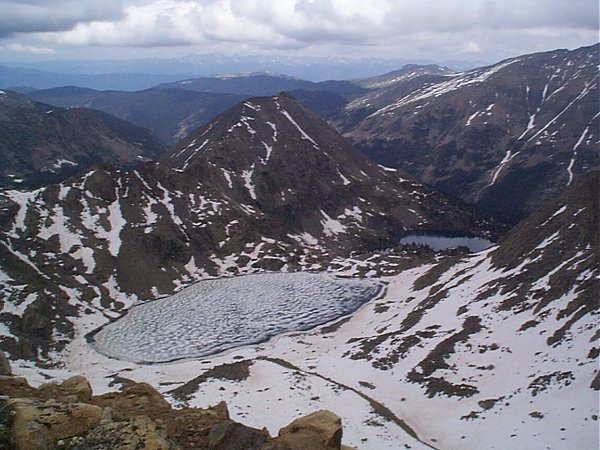 A different ??? Lake from the summit of Pica Peak.