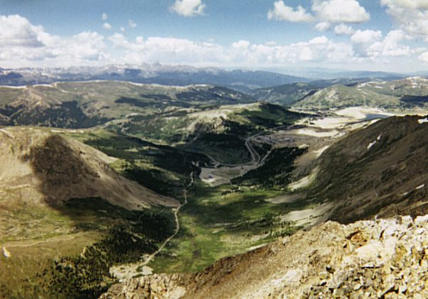 Fremont Pass from the summit of Mount Democrat.