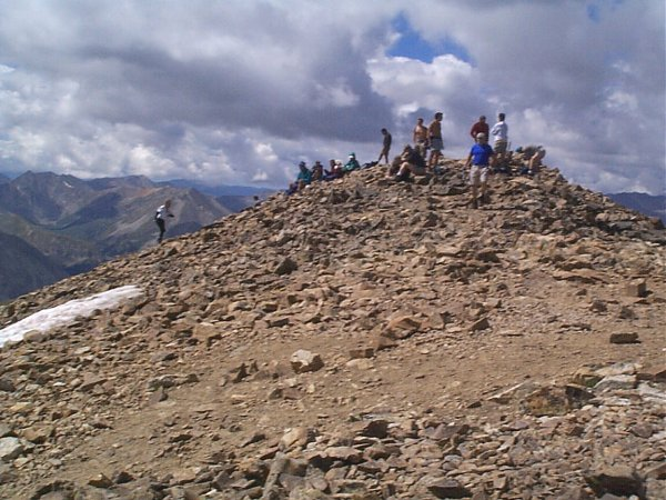 Another shot of the crowds on the summit.