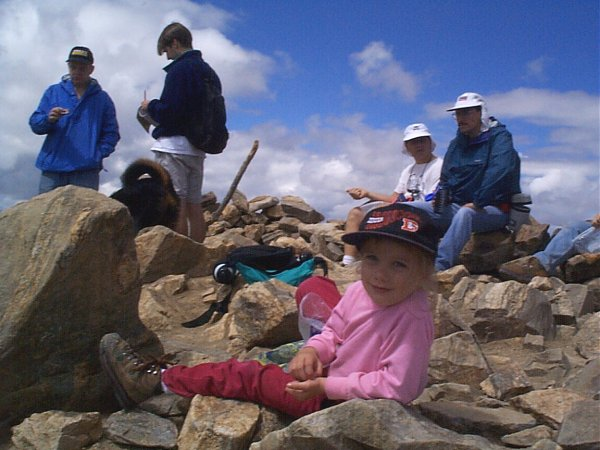 The cutest (and youngest) girl I have ever seen on a summit.
