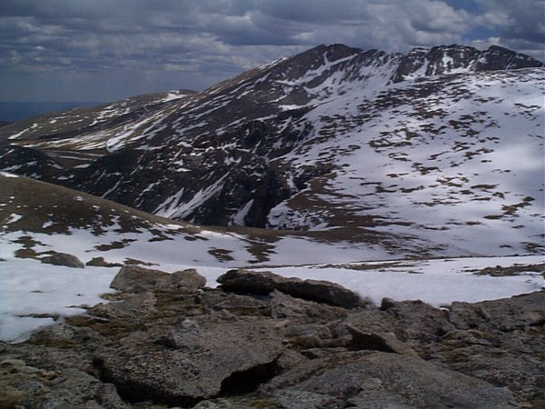Mount Evans from the summit of Gray Wolf Mountain.