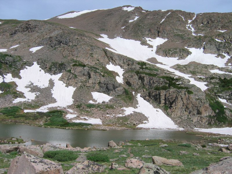 After about three and three-quarters miles of hiking, you finally reach Herman Lake.