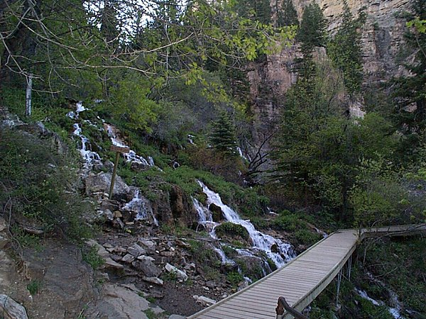 Left to Spouting Rock - Right to Hanging Lake.