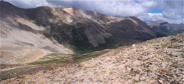 The ridge which defines the west wall of the La Plata Gulch.