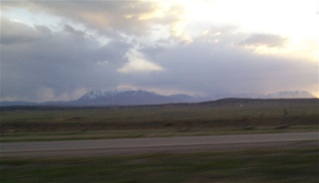 Mount Maestas as seen from Interstate 25.