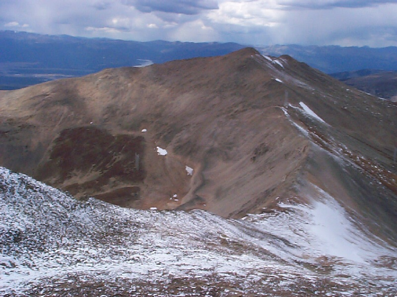 Looking west-northwest to the summit of West Dyer Mountain (elevation 13,047 feet) which I did not climb this day.