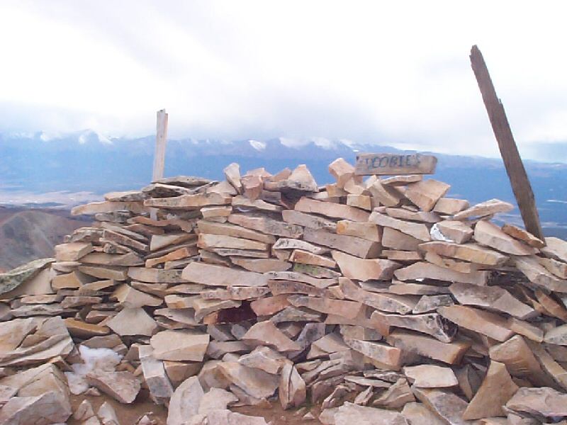 Yet another rock structure on the summit.
