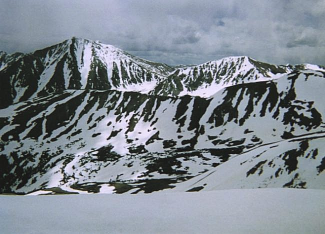 Looking Southeast towards Torreys Peak (left) and Grizzly Peak (right).