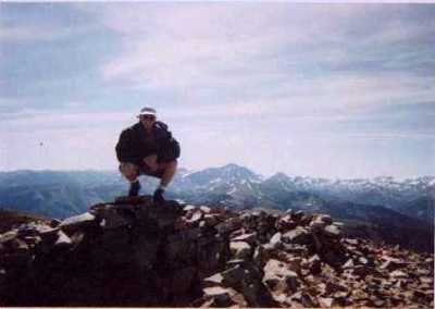 Steve on top of Sopris