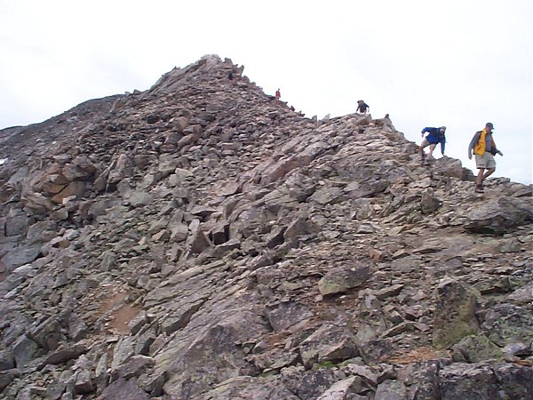 Another view of the rocks near the summit.