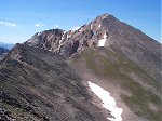 Eight tenths of a mile to the south of Browns Peak is Huron Peak - 14,005 feet.  I had to cross along the top of this ridge to meet up with the more commonly used trail for the last 500 feet (vertical) or so to the summit.