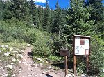 Here's the trailhead to Huron Peak - 2 more miles back to Winfield.