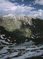 The summit of Mount Evans and Abyss Lake.