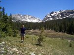 Steve, between the fork in the trails. (Is Columbine Lake up there?)