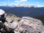 From the summit you've got a great view of Mount Evans (el. 14,264 feet) to the west.