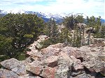 Again from the summit, looking northwest(?) back towards ??? peaks in Rocky Mountain National Park.
