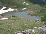 From this vantage point near 12,350 feet elevation, one can easily look down on Hager Lake.