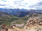A wider view of the same shot above looking into the interior of the Collegiate Peaks.