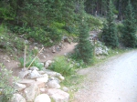 The actual trailhead to Quandary.