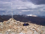 The summit of Dyer Mountain (elevation 13,855 feet).