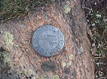 Bench Mark on the summit of Uneva Peak.