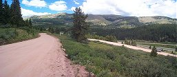 The entire width of my walk above Vail Pass.