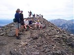 Who says fourteeners aren't crowded?